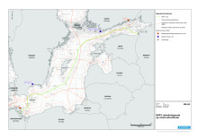 Nord Stream 2 kort alternativ rute - Total