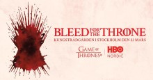 Bleed #forthethrone i Kungsträdgården