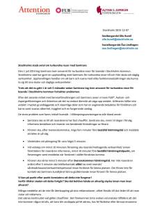 Skrivelse från FUB, Attention och Autism- och aspergerföreningen om Samtrans