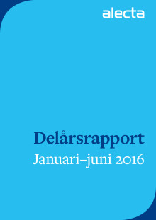 Alectas finansiella rapport första halvåret 2016