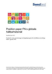 Swedisol Position paper FN:s globala  hållbarhetsmål