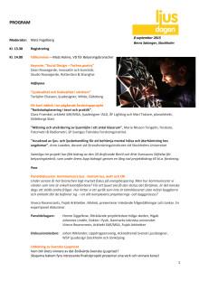 Program Ljusdagen 2015