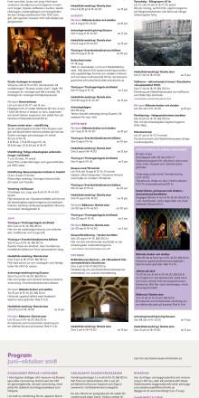 Stadsmuseets och Medeltidsmuseets program sommaren och hösten 2018