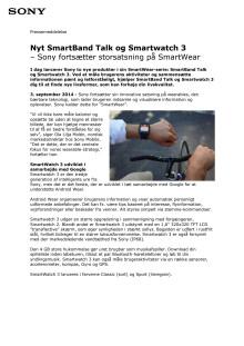 Nyt SmartBand Talk og Smartwatch 3