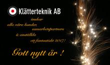 Klätterteknik AB önskar er alla ett gott nytt 2017!