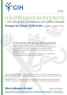 Inbjudan till Hälsopedagogkonferensen