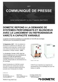 Dometic Repond A La Demande De Systemes Performants Et Silencieux Avec Le Lancement Du Refroidisseur VARC72 A Capacite Variable
