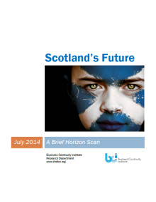 Preparing for Scotland's future challenges