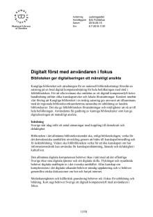 Digitalt först med användaren i fokus – Biblioteken ger digitaliseringen ett mänskligare ansikte