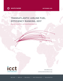 TRANSATLANTIC AIRLINE FUEL EFFICIENCY RANKING, 2017