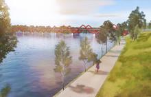 Den nya bron över Skellefteälven tar form