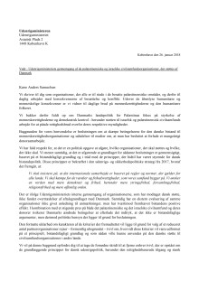 Åbent brev til udenrigsministeren