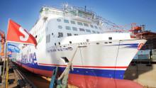 Stena Lines första nybygge Stena Estrid har lämnat dockan i Kina