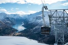 Steilste Seilbahn der Welt in Fjordnorwegen eröffnet