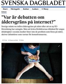 Var är debatten om åldersgräns på internet?