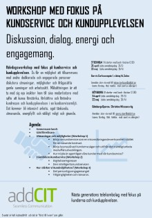 Workshop med fokus på kundupplevelsen & kundmötet