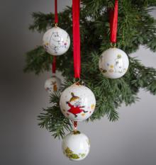 Porsgrunds Porselænsfabrik pynter juletreet med Mummi julekuler
