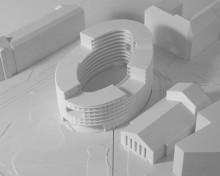Gemensamhetsboende nära Avenyn lockar göteborgarna – 3D-printad modell av Bohem ställs ut under Volvo Ocean Race