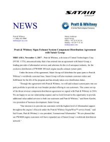 Press Release Satair Group Pratt & Whitney (PDF)