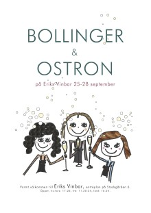 Bollinger och Ostron på Eriks Vinbar