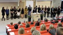 Festlig avslutning för sjuksköterskor, förskollärare och ämneslärare