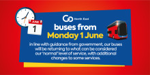 Service changes from Monday 1 June
