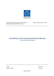 Vinnare av Stora Property-priset 2009: Flexibility in the Commercial Rental Market