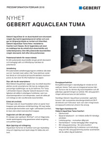 Pressinformation om AquaClean Tuma