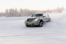 Mercedes testar nya elsuven i Arjeplog