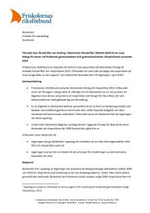 Friskolornas riksförbunds yttrande över förslag till riksprislista avseende 2010
