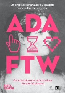 Direktsänt drama om världens första programmerare - Ada Lovelace