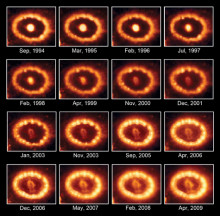Exploderande stjärna lyser starkare