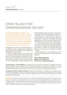 Stark tillväxt för Örebrobaserade wec360°