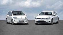 Volkswagen visar helt eldrivna versioner av två storsäljare: e-up! och e-Golf