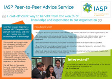 IASP Peer-to-Peer Advice Service - Flyer and list