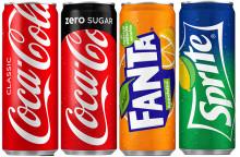 Suomen Coca-Colan neljä suosituinta virvoitusjuomaa nyt myös pienemmissä annostölkeissä