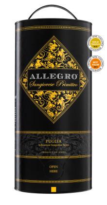 """""""Årets mest prisvärda röda box 2015""""- Allegro Sangiovese Primitivo, 219 kr"""