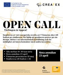 Createx OPEN CALL – tävlingen är öppen!