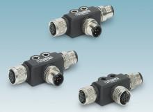M12 T-distributors for data transmission