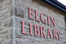 Three-man art exhibition at Elgin library