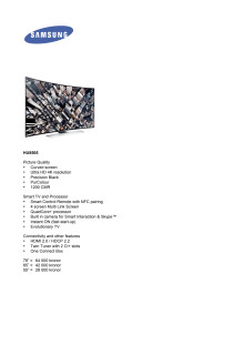 Samsung Smart TV 2014