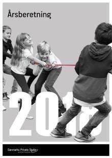 """Årsberetning 2018. Danmarks Private Skoler - grundskoler og gymnasier. """"Den røde tråd"""""""