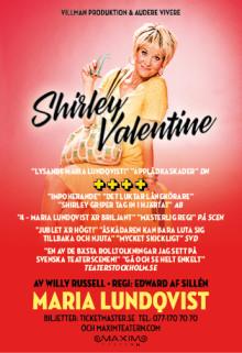 """Nu släpper vi höstens biljetter till publiksuccén """"Shirley Valentine"""" med Maria Lundqvist. Nypremiär på Maximteatern den 19 oktober 2017!"""