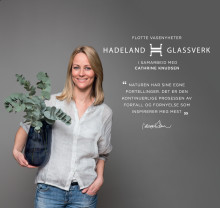 Cathrine Knudsen dekorerer igjen for Hadeland Glassverk
