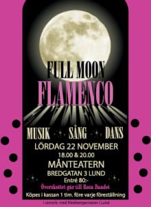 Flamencoföreställning Fullmoon i Lund