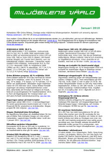 Gröna Bilisters nyhetsbrev för januari 2010