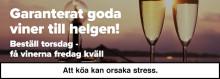 Garanterat goda viner till helgen - Winefinder.se lanserar expressleveranser