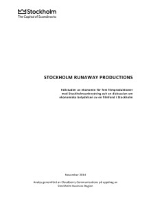 Filmfond: Stockholm Runaway Productions 2014