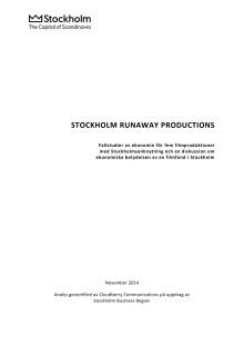 Filmfond: Stockholm Runaway Productions 2014