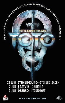 TOTO ger utomhuskonsert på Stenungsbaden Yacht Club